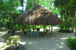 The private hut at Nirvana, Negril, Jamaica